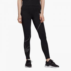 ביגוד Adidas Originals לנשים Adidas Originals Tights - שחור/לבן