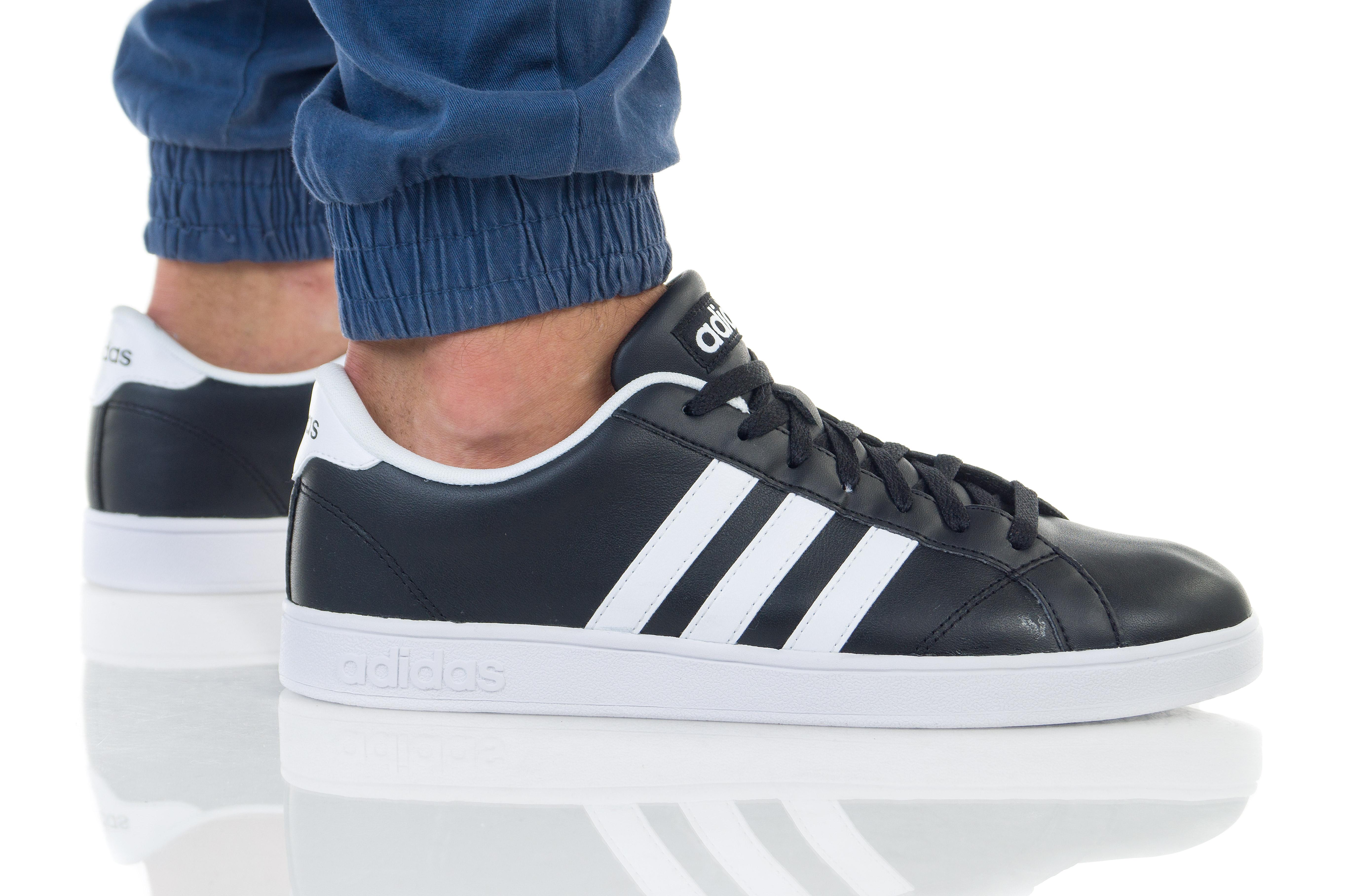 נעליים אדידס לגברים Adidas BASELINE - שחור/לבן
