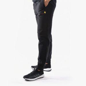 מכנסיים ארוכים קארהארט לגברים Carhartt WIP American Script Jogging Pant - שחור