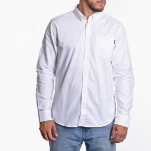 ביגוד קארהארט לגברים Carhartt WIP Button Down Pocket - לבן