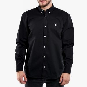 ביגוד קארהארט לגברים Carhartt WIP Madison Shirt - שחור