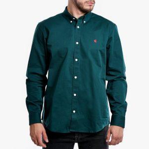 ביגוד קארהארט לגברים Carhartt WIP Madison Shirt - ירוק