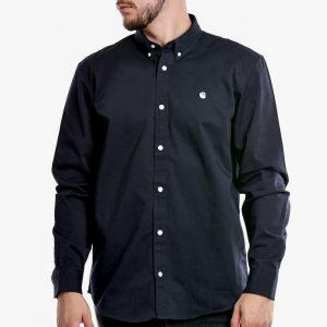 ביגוד קארהארט לגברים Carhartt WIP Madison Shirt - כחול כהה