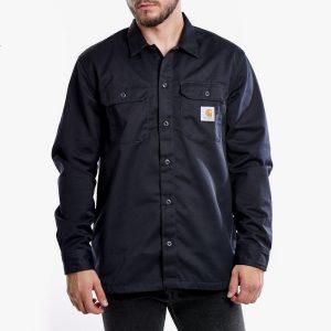 ביגוד קארהארט לגברים Carhartt WIP Master Shirt - כחול כהה