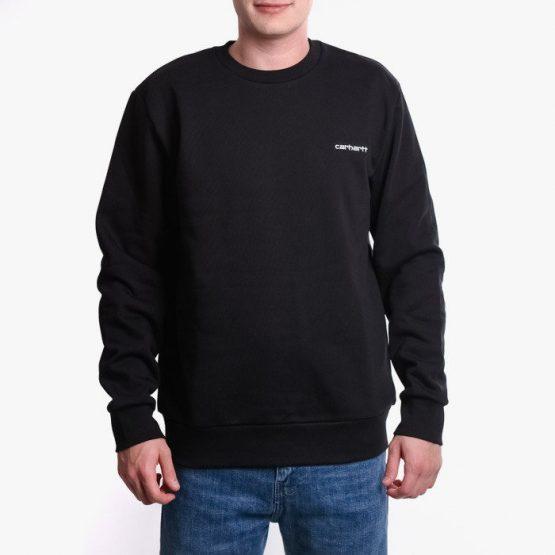 סווטשירט קארהארט לגברים Carhartt WIP Script Embroidery - שחור