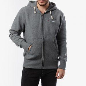 ביגוד צ'מפיון לגברים Champion Full Zip Sweatshirt - אפור