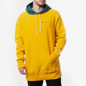 ביגוד צ'מפיון לגברים Champion Reverse Weave Hooded - צהוב