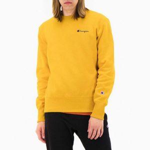 סווטשירט צ'מפיון לגברים Champion Script Logo - צהוב
