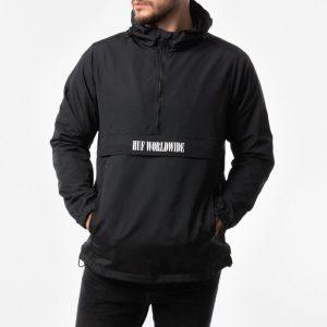 ביגוד HUF לגברים HUF Deja Vu Anorak Jacket - שחור