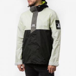 ביגוד הלי הנסן לגברים Helly Hansen Young Urban Rain Jacket - שחור/לבן
