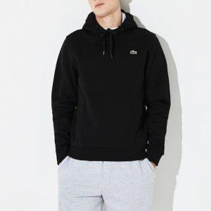 ביגוד לקוסט לגברים LACOSTE Hooded Fleece Tennis Sweatshirt - שחור
