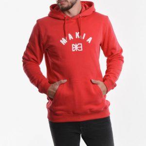 ביגוד מאקיה לגברים Makia Brand Hooded - אדום