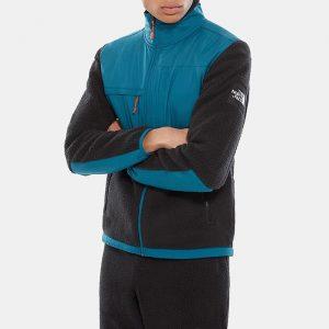 ביגוד דה נורת פיס לגברים The North Face Denali Fleece Blucoral - שחור/כחול