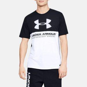 ביגוד אנדר ארמור לגברים Under Armour Performance Apparel - שחור/לבן