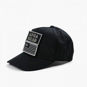 ביגוד אלפא אינדסטריז לגברים Alpha Industries VLC Patch Cap - שחור