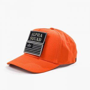 ביגוד אלפא אינדסטריז לגברים Alpha Industries VLC Patch Cap - כתום