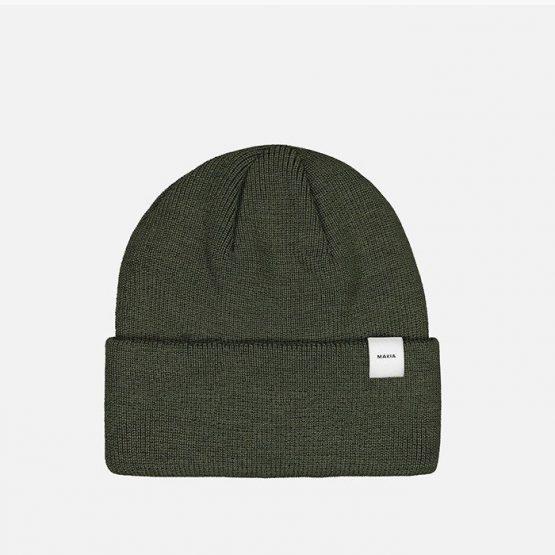 כובע מאקיה לגברים Makia Merino Thin Cap - ירוק
