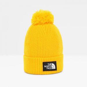 ביגוד דה נורת פיס לגברים The North Face Logo Box - צהוב