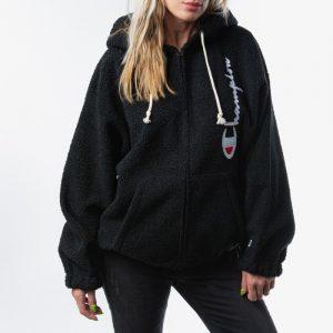 ביגוד צ'מפיון לנשים Champion Reverse Weave Full Zip Fleece - שחור