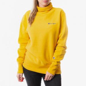 ביגוד צ'מפיון לנשים Champion Reverse Weave High Neck - צהוב