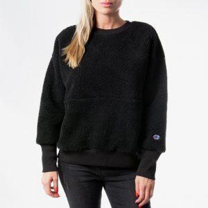 סווטשירט צ'מפיון לנשים Champion Reverse Weave Maxi - שחור