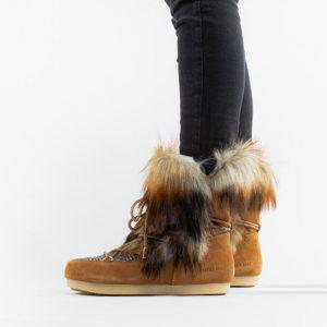 נעליים מונבוט' לנשים Moon Boot Far Side High Faux Fox Fur - חום