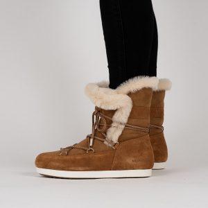 נעליים מונבוט' לנשים Moon Boot Far Side High Shear - חום