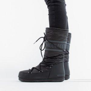 נעליים מונבוט' לנשים Moon Boot High Nylon WP - שחור