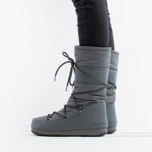 נעליים מונבוט' לנשים Moon Boot High Nylon WP - אפור