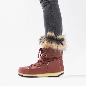 נעליים מונבוט' לנשים Moon Boot Monaco Low WP 2 - אדום יין