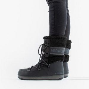 נעליים מונבוט' לנשים Moon Boot Monaco Wool Mid WP - שחור
