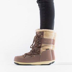 נעליים מונבוט' לנשים Moon Boot Monaco Wool Mid WP - חום