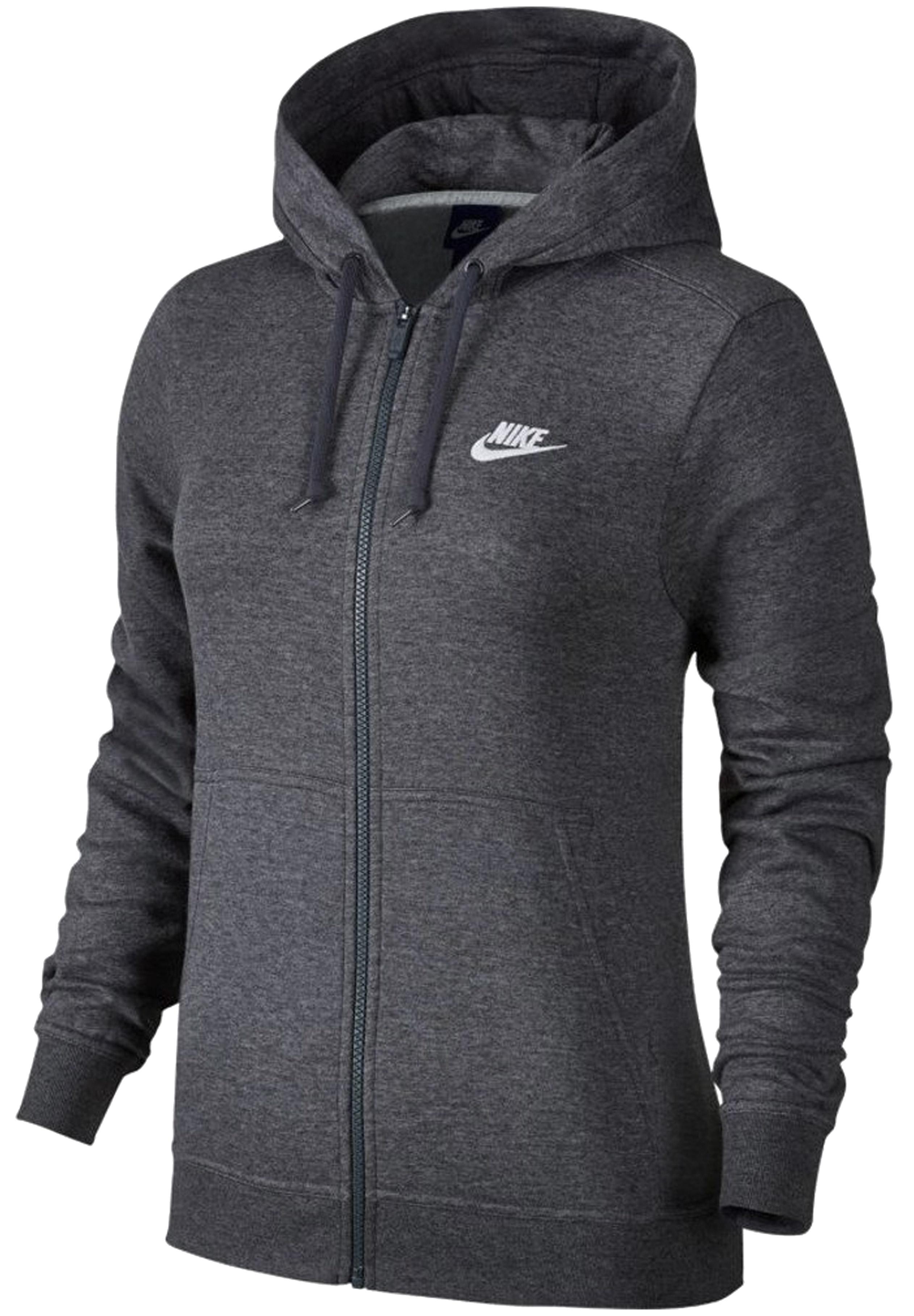 ביגוד נייק לנשים Nike W NSW HOODIE FZ FLC - אפור