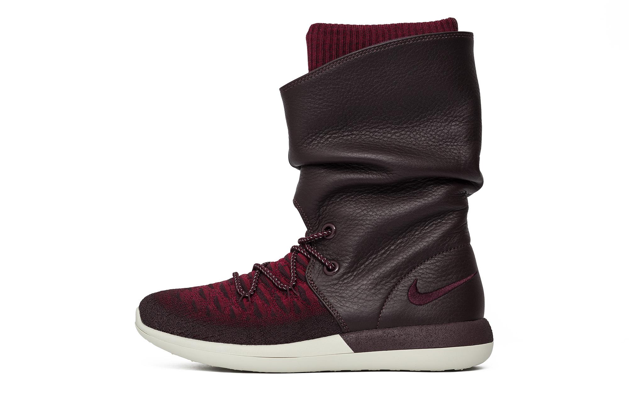 נעליים נייק לנשים Nike Wmns Roshe Two Hi Flyknit - חום
