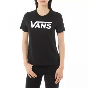 חולצת T ואנס לנשים Vans Fying V Crew - שחור