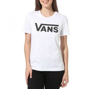 חולצת T ואנס לנשים Vans Fying V Crew - לבן