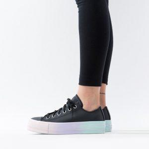 נעליים קונברס לנשים Converse Chuck Taylor All Star Lift OX - שחורטורקיז