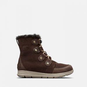 נעליים סורל לנשים Sorel Explorer Joan - חום כהה