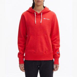 ביגוד צ'מפיון לנשים Champion Hooded - אדום