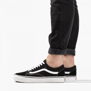נעליים ואנס לנשים Vans Old Skool - לבן/שחור