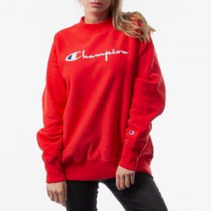 ביגוד צ'מפיון לנשים Champion Reverse Weave Crewneck - אדום