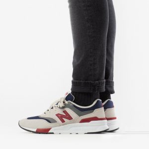 נעליים ניו באלאנס לגברים New Balance 997 - לבן  כחול  אדום