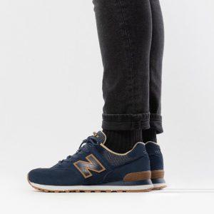 נעלי סניקרס ניו באלאנס לגברים New Balance ML574 - כחול/שחור