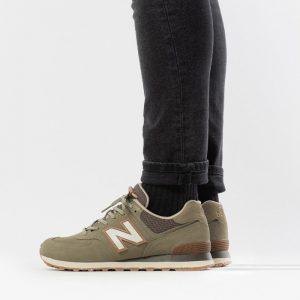 נעלי סניקרס ניו באלאנס לגברים New Balance ML574 - ירוק כהה