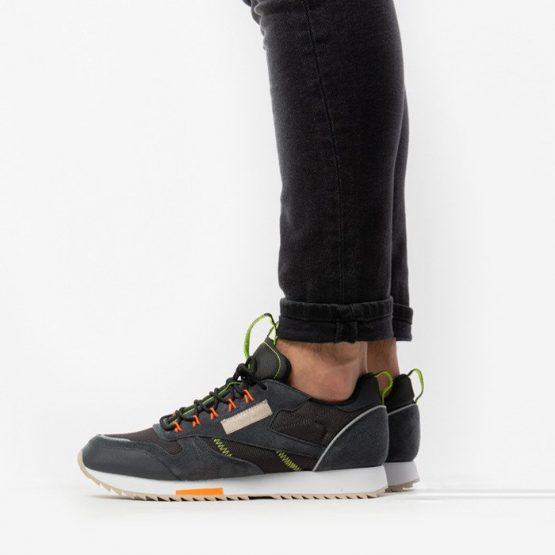 נעלי סניקרס ריבוק לגברים Reebok Classic Leather Ripple Trail - שחור/לבן