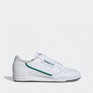 נעלי סניקרס אדידס לגברים Adidas Continental 80 - לבן הדפס