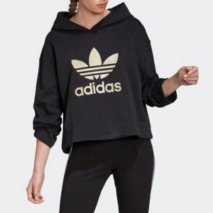 ביגוד אדידס לנשים Adidas LG Hoodie - שחור