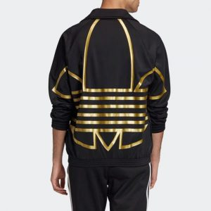 ביגוד אדידס לגברים Adidas Metallic Track Top - שחור/צהוב