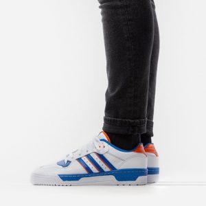 נעליים אדידס לגברים Adidas Rivalry Low - כחול/לבן