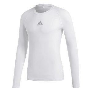 ביגוד אדידס לגברים Adidas ALPHASKIN - לבן מלא